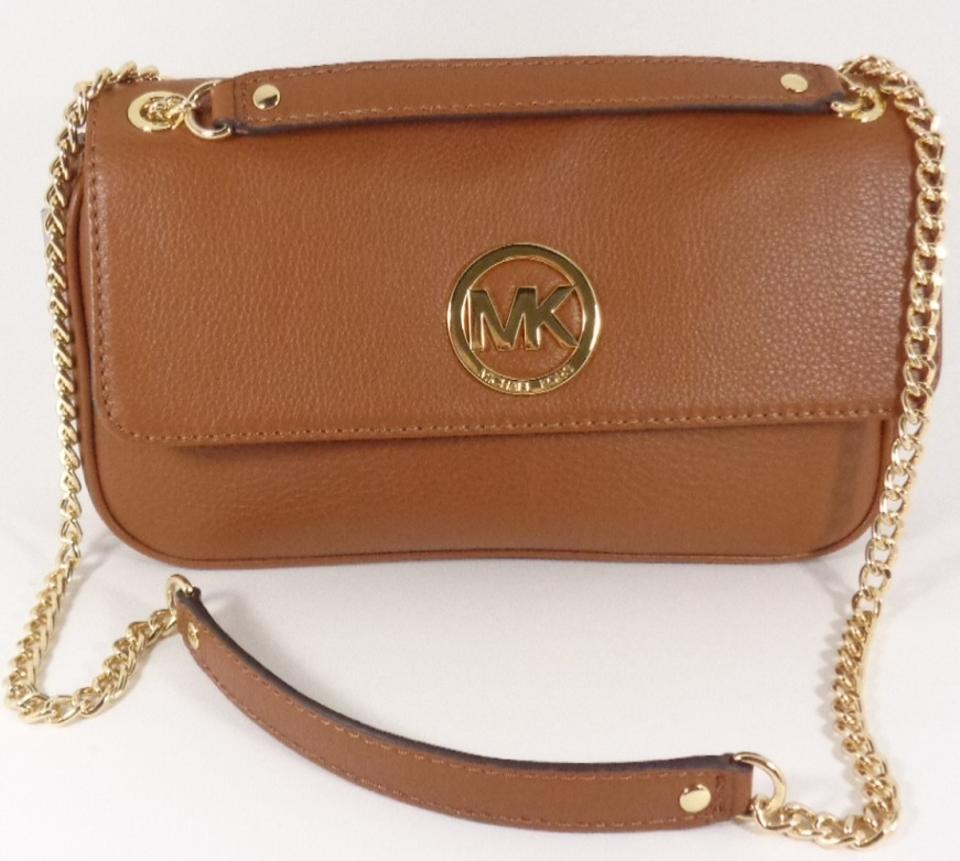 Michael Kors 35h2gftf1l Fulton Brown Leather Women s Purse Cross Body Bag.  1234567891011 de7c165804
