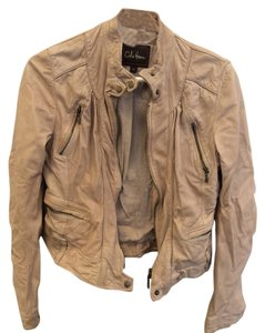 Cole Haan Leather Beige Jacket