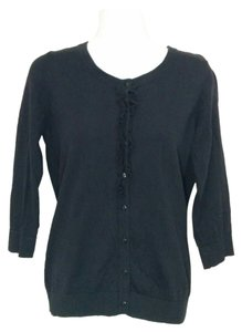 Motherhood Maternity Black 3/4 sleeve cardigan sweater, Small, #3404