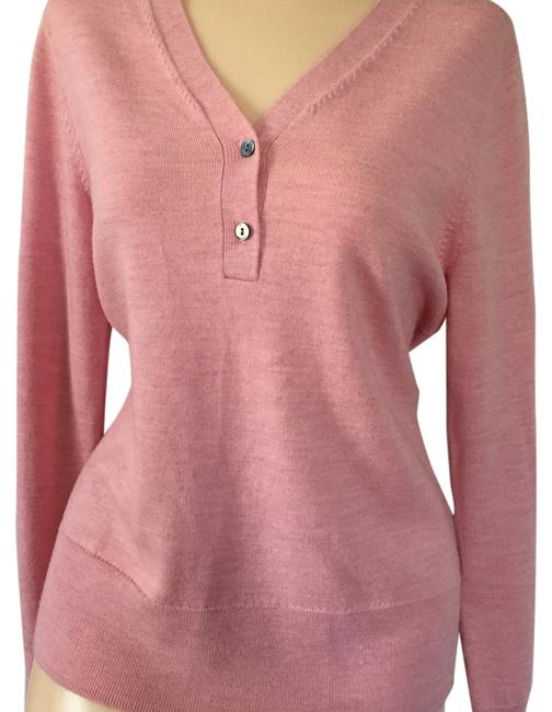 Preload https://item3.tradesy.com/images/brooks-brothers-pink-sweaterpullover-size-8-m-13383907-0-1.jpg?width=400&height=650