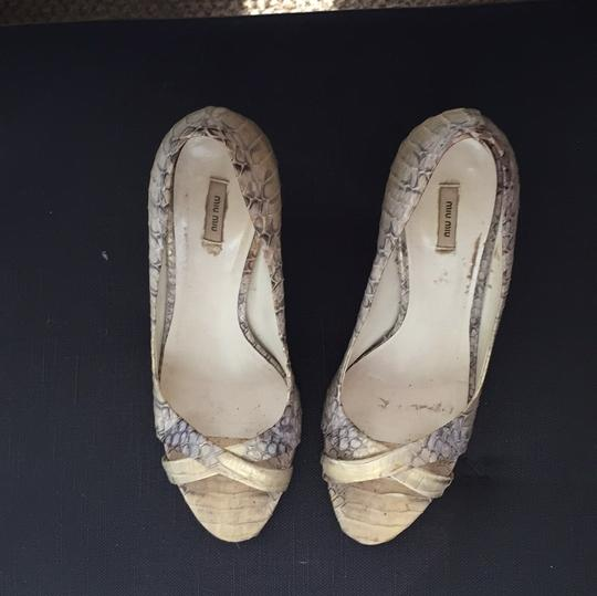 Miu Miu metallic - gold/platino w/hints of slate blue Formal