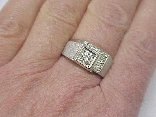 Other GIA Certified! $5820 Mens .72ct Diamond 14kt White Gold Ring Appraisal Image 4