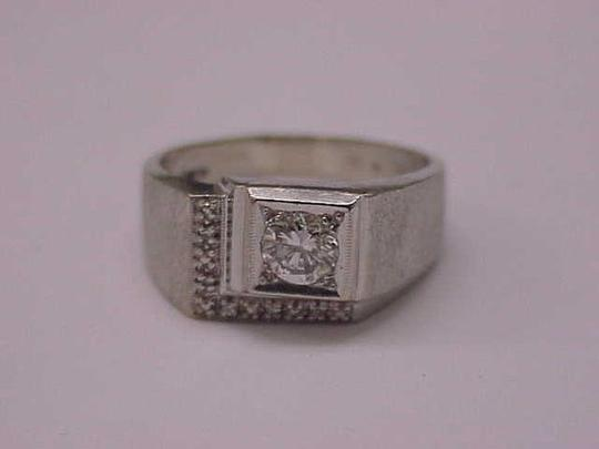 Other GIA Certified! $5820 Mens .72ct Diamond 14kt White Gold Ring Appraisal Image 5