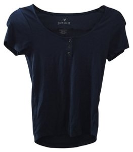 American Eagle Outfitters Crop navy Halter Top