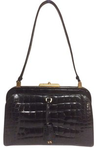 Prada Alligator Alligator Skin Exotic Handbag Shoulder Bag