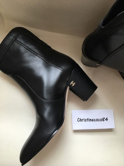 Chanel Size 37 Black Boots