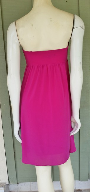 Gianni Bini Strapless Boned Cocktail Fuchsia Dress