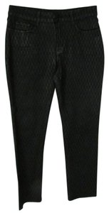 NYDJ Slim Fit Metallic Printed Mid Rise Skinny Jeans-Coated