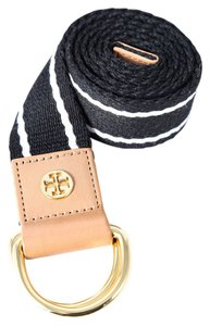 Tory Burch Tory Burch Striped Webbing Belt