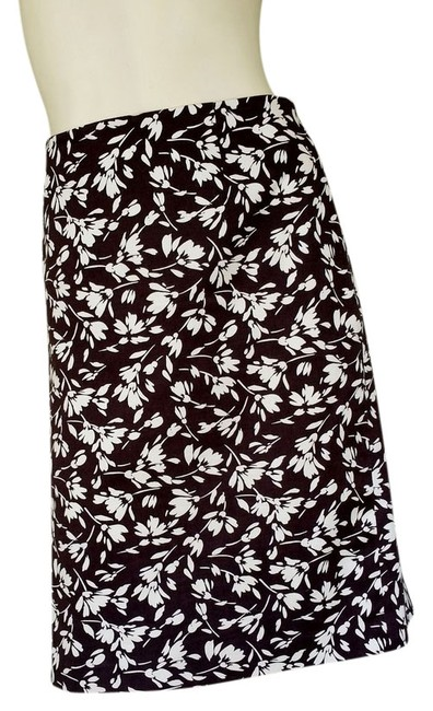 Lauren Ralph Lauren Ivory Floral Skirt Brown