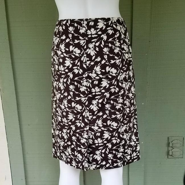 Lauren Ralph Lauren Ivory Cotton Floral Skirt Brown