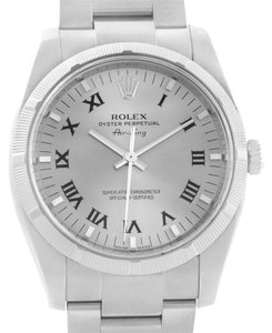Rolex Rolex Air King Silver Roman Dial Stainless Steel Watch 114210