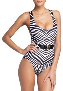 Michael Kors womens size 6 Michael kors zebra chevron cross back maillot