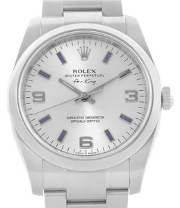 Rolex Rolex Oyster Perpetual Air King Blue Hour Markers Mens Watch 114200