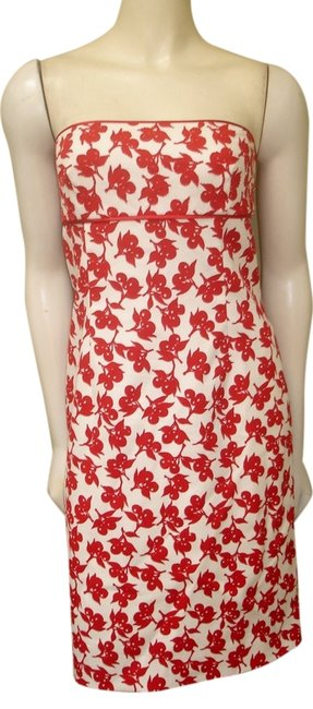Preload https://img-static.tradesy.com/item/1338545/phoebe-couture-red-white-floral-strapless-cotton-blend-knee-length-short-casual-dress-size-6-s-0-0-650-650.jpg