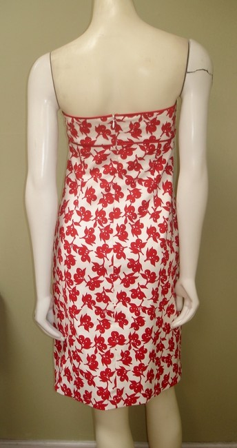 Phoebe Couture short dress Red White Strapless Cotton on Tradesy