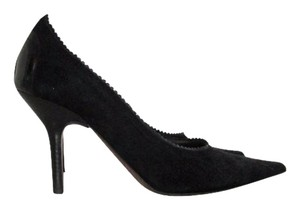 Donald J. Pliner Ciana Toe Suede Leather Black Pumps