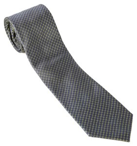 Saint Laurent * Saint Laurent Blue Circle-print Silk Tie