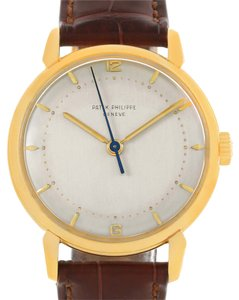 Patek Philippe Patek Philippe Calatrava 18k Yellow Gold Mens Vintage Watch 2482