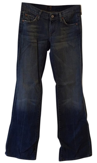 Preload https://item2.tradesy.com/images/7-for-all-mankind-distressed-blue-flare-leg-jeans-size-26-2-xs-13385911-0-1.jpg?width=400&height=650