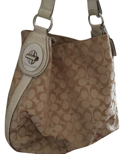 Preload https://item1.tradesy.com/images/coach-1-white-and-tan-l-hobo-bag-13385920-0-1.jpg?width=440&height=440