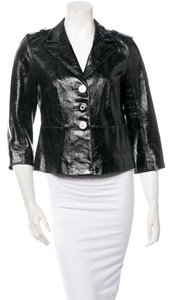 Tory Burch Patent Leather Blazer Leather Jacket
