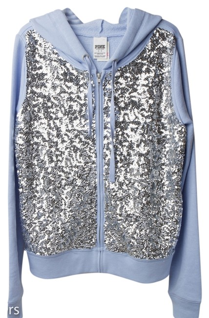 PINK Limited Edition Bling Fall Spring Sequin Sweatshirt