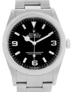 Rolex Rolex Explorer I Black Dial Stainless Steel Mens Watch 114270 Unworn