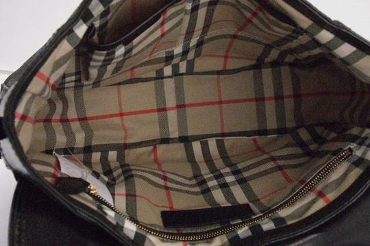 Burberry Sb-15608- Check Flap Hobo Bag