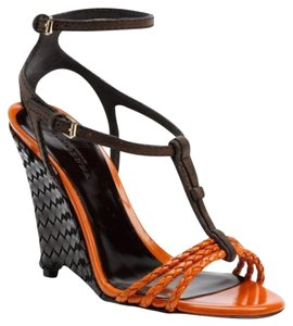 Burberry B1cfbc222b Size 39.5 New With Out Box Strappy Summer Orange Wedges