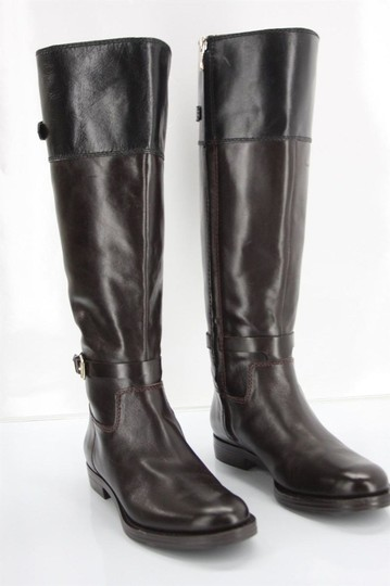 Enzo Angiolini Sb-15402- Strappy Knee High Party Brown Boots