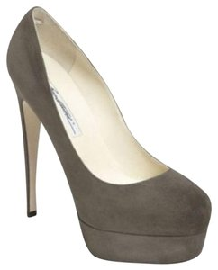 Brian Atwood Nib-bba-hamper-36 New In Box Almond Toe Size 36 Very High Heels Grey Platforms