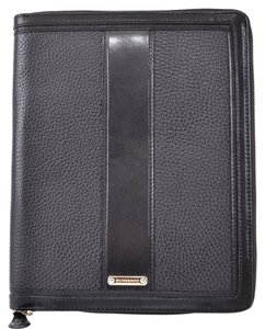 Burberry NEW BURBERRY $495 BLACK LEATHER ZIP AROUND IPAD TABLET CASE COVER