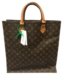 Louis Vuitton Leather Canvas Tote in Monogram