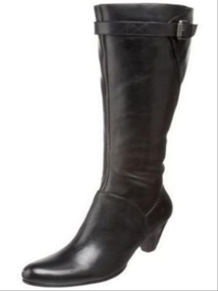 380322ac6c0 Ecco Hope Black Leather Riding Boots Size 40 10 Tall Knee High ...