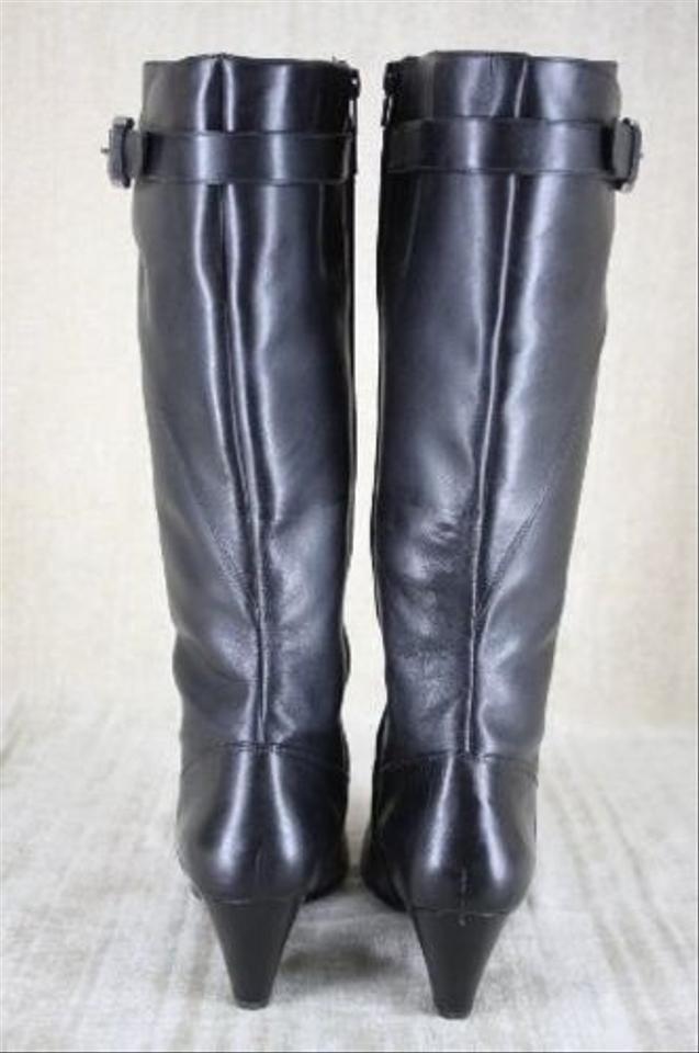 de700edd54d Ecco Hope Black Leather Riding Boots Size 40 10 Tall Knee High Womens 299 -  Tradesy