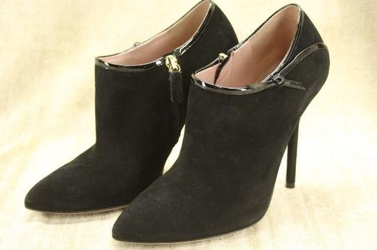Gucci Beverly Ankle Pointed Toe Patent Black Boots