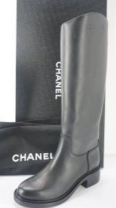 Chanel Tall Black Boots