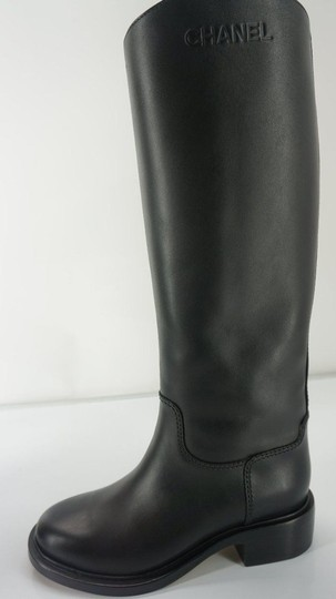 Chanel Tall Black Boots Image 2