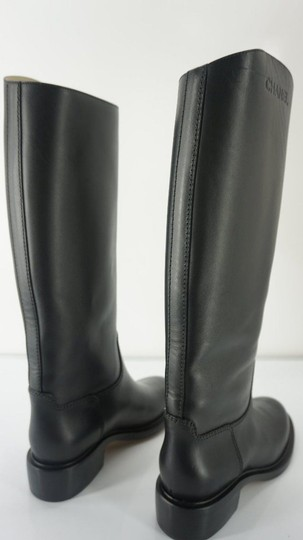 Chanel Tall Black Boots Image 3