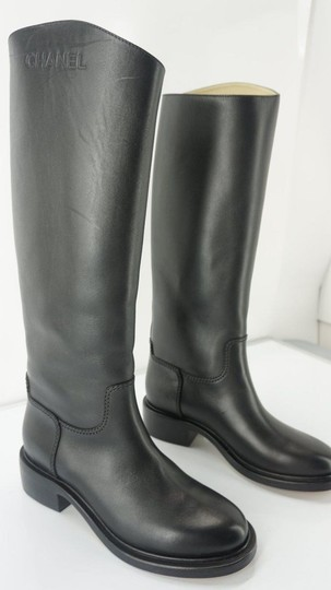 Chanel Tall Black Boots Image 6