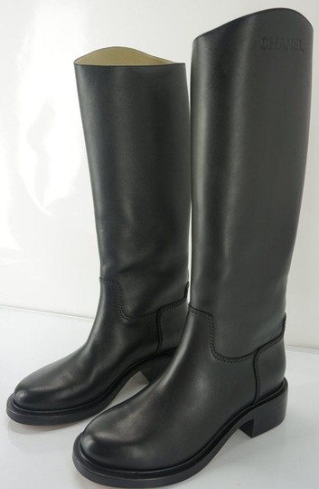 Chanel Tall Black Boots Image 7