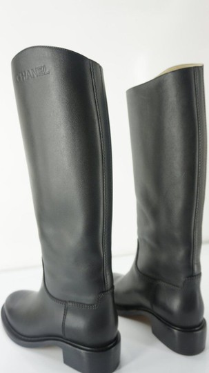 Chanel Tall Black Boots Image 9