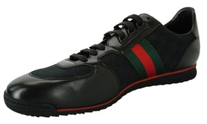 Gucci Moorea Sl 73 Sneaker Black Leather Signature Web Sz 14 Us 135 G Gg