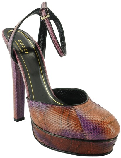 Preload https://item3.tradesy.com/images/gucci-multicolor-grape-glam-python-snake-huston-ankle-wrap-pumps-platforms-size-eu-385-approx-us-85--13387417-0-2.jpg?width=440&height=440