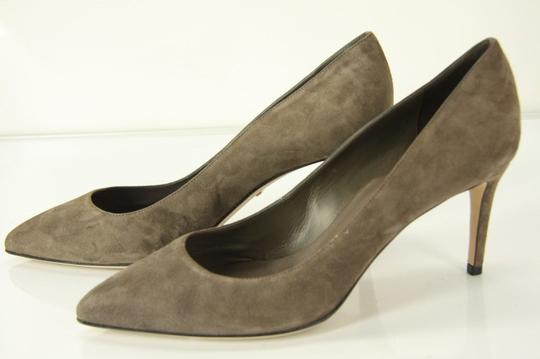 Gucci 888108152834 Suede Pointy Toe Classic Gray Pumps