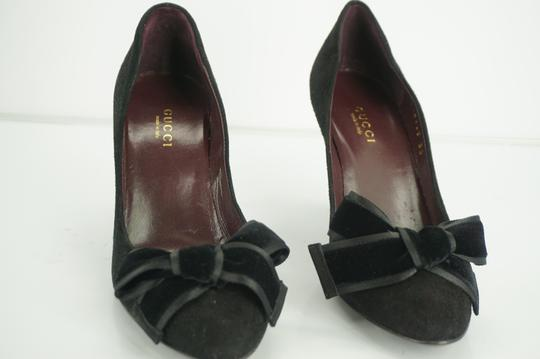 Gucci 885133711920 Sandal High Heels Bow Toe Black Pumps