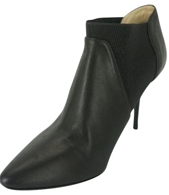 Jimmy Choo Black Leather Decant Chelsea High Heel Pointed Toe Ankle Boots/Booties Size EU 39.5 (Approx. US 9.5) Regular (M, B) Image 1