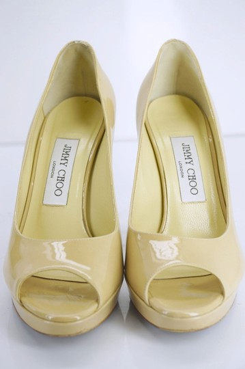 Jimmy Choo New With Defects High Heels Sd454197606 Sandals Beige Platforms