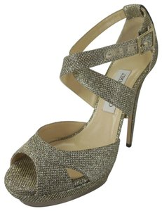 Jimmy Choo Pump Glitter Lame New With Out Box Beige Sandals